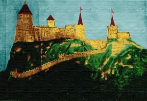 Dobová rytina Súčanského hradu